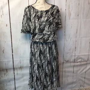 KSL Karen Stevens Chiffon Dress